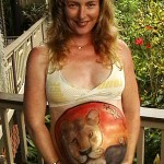 pregnant body painting