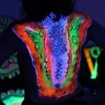 blacklight bodypaint artist