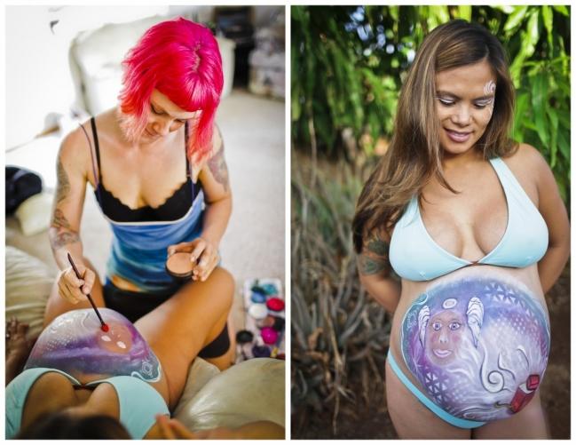 pregnancy painting maui hawaii