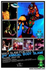 blacklight body painting flyer